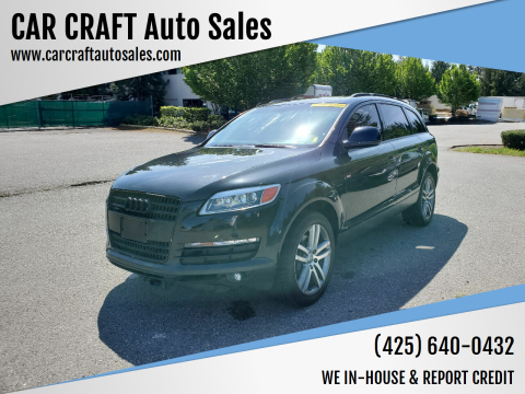 2007 Audi Q7 for sale at Car Craft Auto Sales Inc in Lynnwood WA