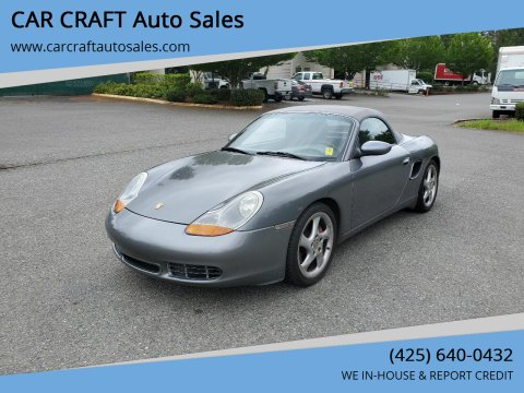 2002 Porsche Boxster for sale at Car Craft Auto Sales Inc in Lynnwood WA