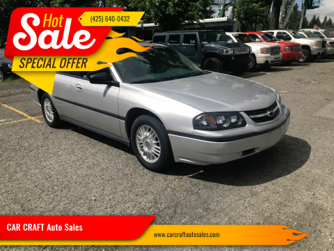 2000 Chevrolet Impala for sale at Car Craft Auto Sales Inc in Lynnwood WA