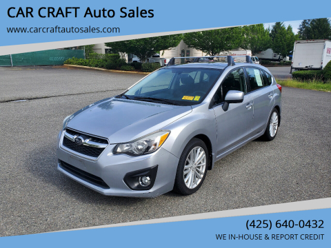 2012 Subaru Impreza for sale at Car Craft Auto Sales Inc in Lynnwood WA