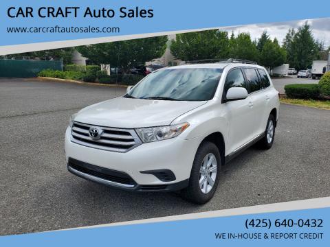 2011 Toyota Highlander for sale at Car Craft Auto Sales Inc in Lynnwood WA