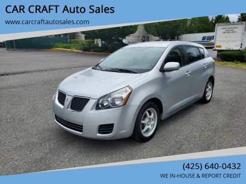 2009 Pontiac Vibe for sale at Car Craft Auto Sales Inc in Lynnwood WA