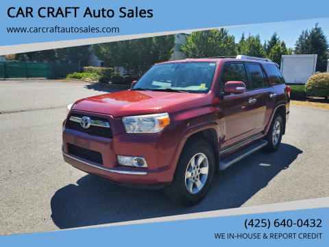 2010 Toyota 4Runner for sale at Car Craft Auto Sales Inc in Lynnwood WA