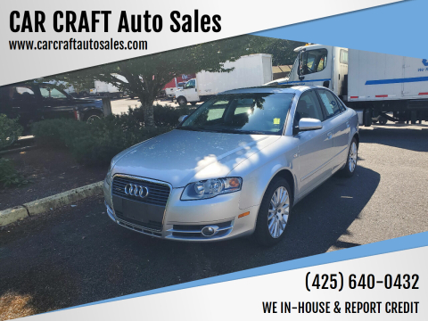 2006 Audi A4 for sale at Car Craft Auto Sales Inc in Lynnwood WA