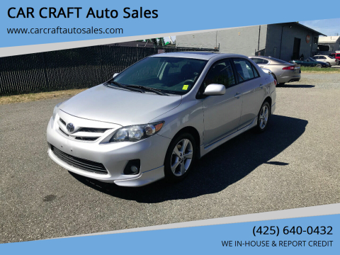 2012 Toyota Corolla for sale at Car Craft Auto Sales Inc in Lynnwood WA
