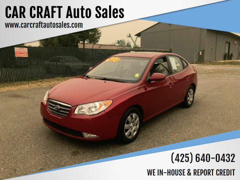 2008 Hyundai Elantra for sale at Car Craft Auto Sales Inc in Lynnwood WA