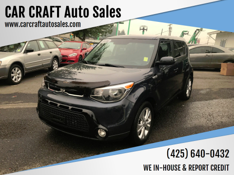 2016 Kia Soul for sale at Car Craft Auto Sales Inc in Lynnwood WA