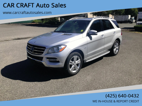 2012 Mercedes-Benz M-Class for sale at Car Craft Auto Sales Inc in Lynnwood WA