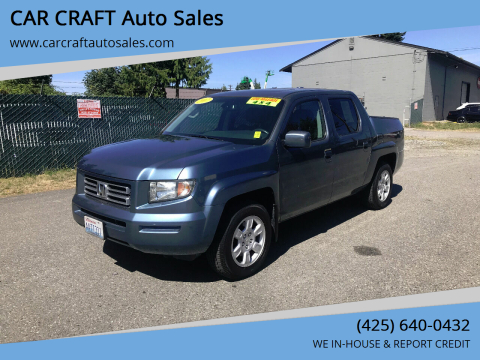 2007 Honda Ridgeline for sale at Car Craft Auto Sales Inc in Lynnwood WA