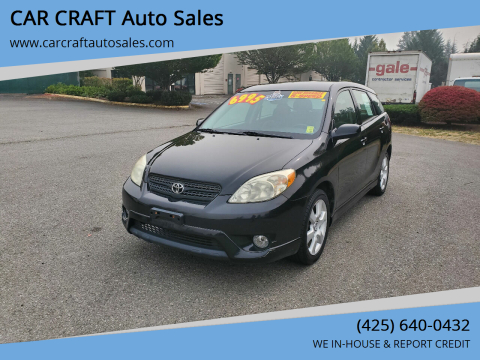 2005 Toyota Matrix for sale at Car Craft Auto Sales Inc in Lynnwood WA