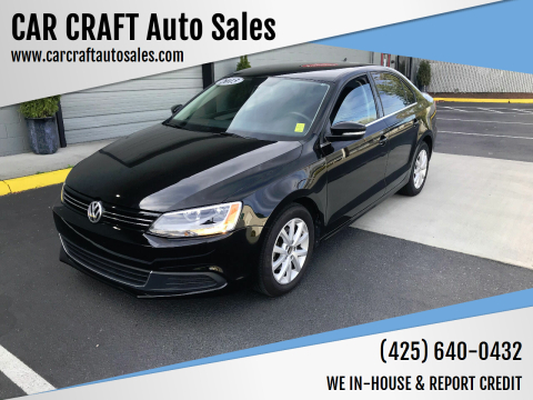 2013 Volkswagen Jetta for sale at Car Craft Auto Sales Inc in Lynnwood WA