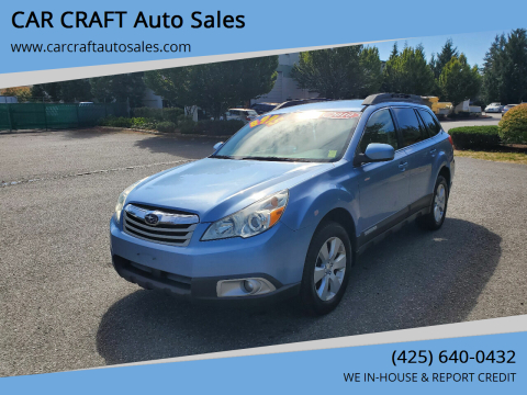 2010 Subaru Outback for sale at Car Craft Auto Sales Inc in Lynnwood WA