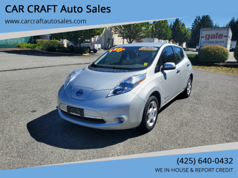 2012 Nissan LEAF for sale at Car Craft Auto Sales Inc in Lynnwood WA