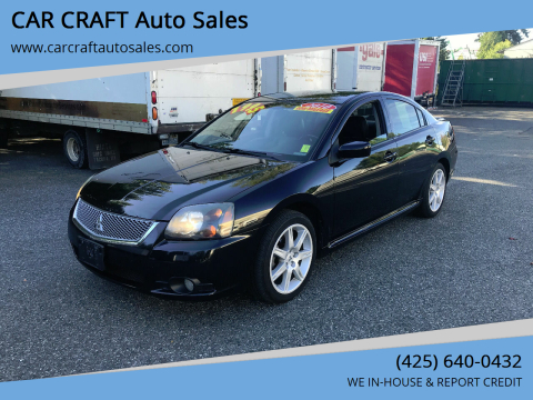 2010 Mitsubishi Galant for sale at Car Craft Auto Sales Inc in Lynnwood WA