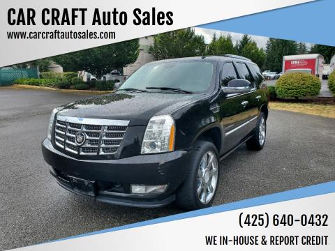2008 Cadillac Escalade for sale at Car Craft Auto Sales Inc in Lynnwood WA