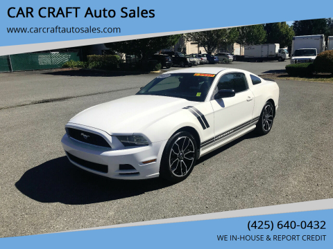 2013 Ford Mustang for sale at Car Craft Auto Sales Inc in Lynnwood WA