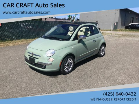 2012 FIAT 500c for sale at Car Craft Auto Sales Inc in Lynnwood WA