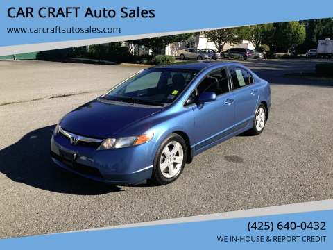 2008 Honda Civic for sale at Car Craft Auto Sales Inc in Lynnwood WA