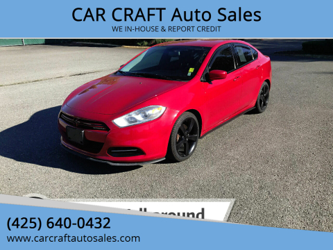 2014 Dodge Dart for sale at Car Craft Auto Sales Inc in Lynnwood WA