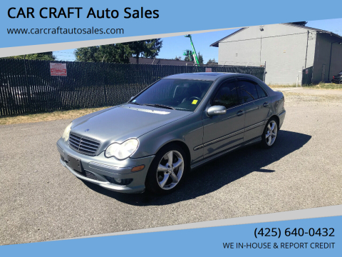 2005 Mercedes-Benz C-Class for sale at Car Craft Auto Sales Inc in Lynnwood WA