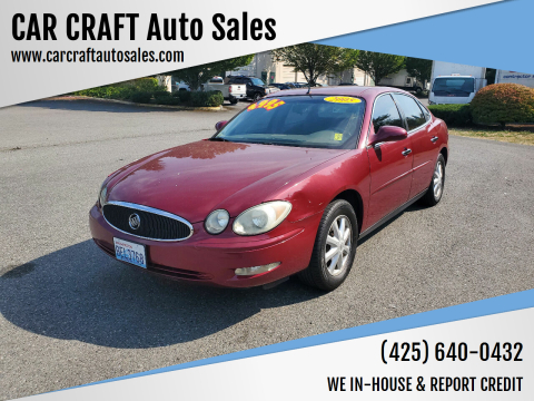 2005 Buick LaCrosse for sale at Car Craft Auto Sales Inc in Lynnwood WA