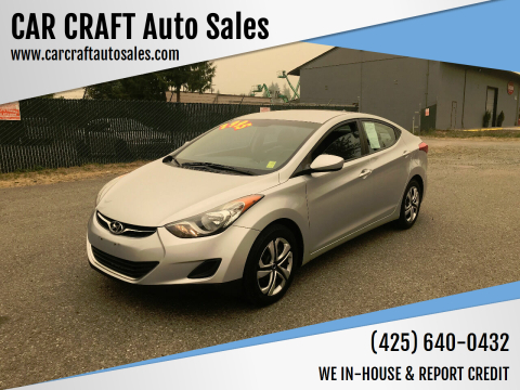 2011 Hyundai Elantra for sale at Car Craft Auto Sales Inc in Lynnwood WA