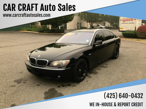 2006 BMW 7 Series for sale at Car Craft Auto Sales Inc in Lynnwood WA