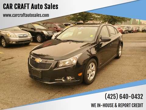 2012 Chevrolet Cruze for sale at Car Craft Auto Sales Inc in Lynnwood WA