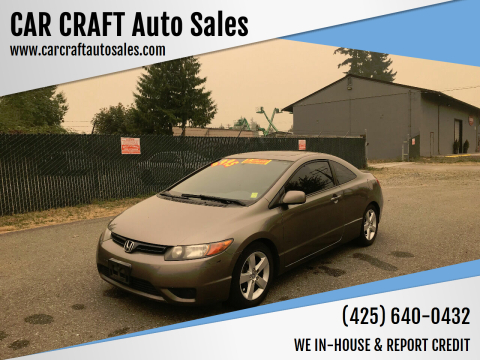 2006 Honda Civic for sale at Car Craft Auto Sales Inc in Lynnwood WA