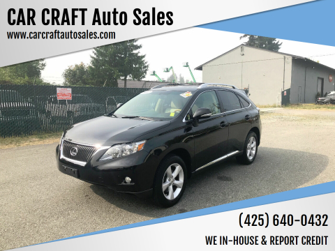 2012 Lexus RX 350 for sale at Car Craft Auto Sales Inc in Lynnwood WA
