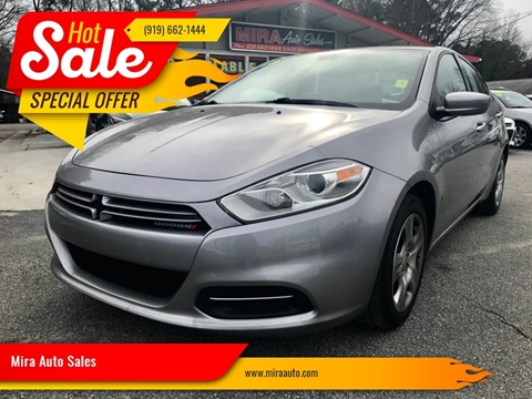 2016 Dodge Dart for sale at Mira Auto Sales in Raleigh NC