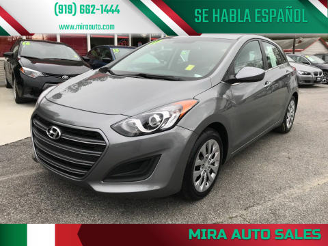 2017 Hyundai Elantra GT for sale at Mira Auto Sales in Raleigh NC