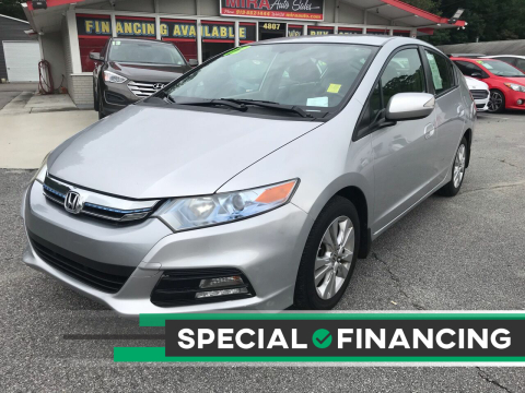 2012 Honda Insight for sale at Mira Auto Sales in Raleigh NC