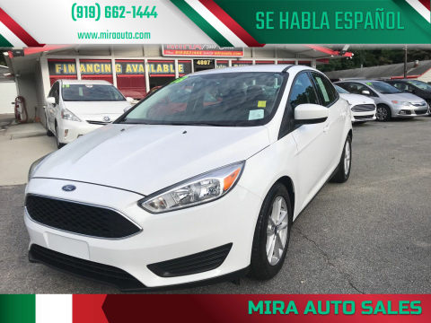 2018 Ford Focus for sale at Mira Auto Sales in Raleigh NC