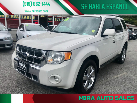 2010 Ford Escape for sale at Mira Auto Sales in Raleigh NC