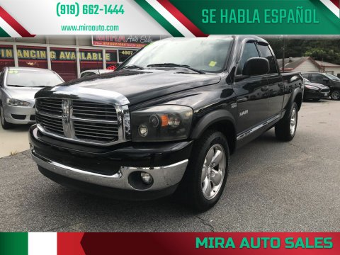 2008 Dodge Ram Pickup 1500 for sale at Mira Auto Sales in Raleigh NC