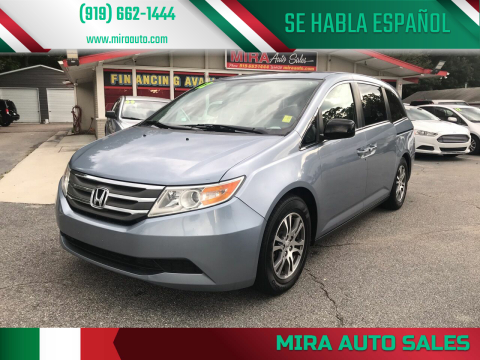 2012 Honda Odyssey for sale at Mira Auto Sales in Raleigh NC