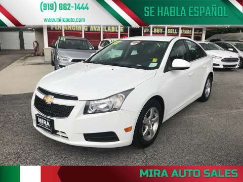 2012 Chevrolet Cruze for sale at Mira Auto Sales in Raleigh NC