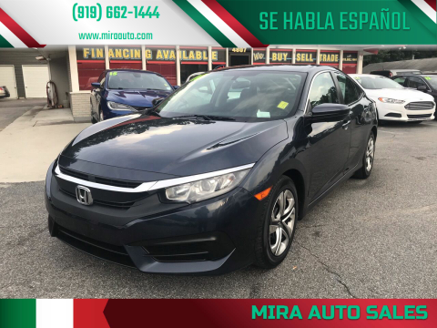2016 Honda Civic for sale at Mira Auto Sales in Raleigh NC