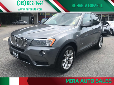 2012 BMW X3 for sale at Mira Auto Sales in Raleigh NC