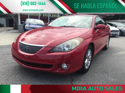 2006 Toyota Camry Solara for sale at Mira Auto Sales in Raleigh NC