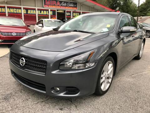 2009 Nissan Maxima for sale at Mira Auto Sales in Raleigh NC