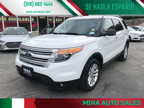 2014 Ford Explorer for sale at Mira Auto Sales in Raleigh NC