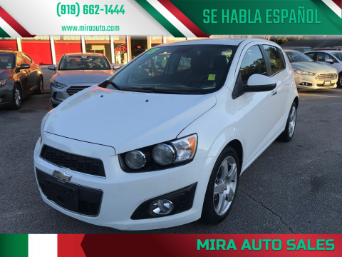 2013 Chevrolet Sonic for sale at Mira Auto Sales in Raleigh NC