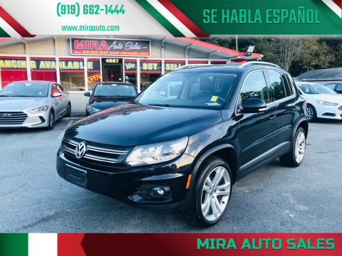 2012 Volkswagen Tiguan for sale at Mira Auto Sales in Raleigh NC