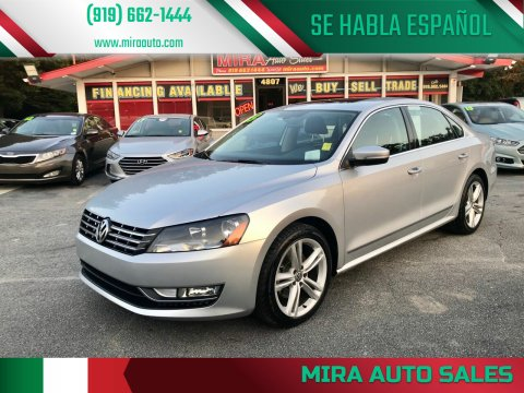 2013 Volkswagen Passat for sale at Mira Auto Sales in Raleigh NC