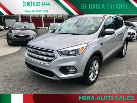 2018 Ford Escape for sale at Mira Auto Sales in Raleigh NC
