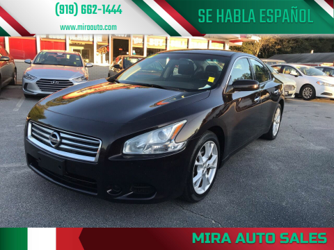 2012 Nissan Maxima for sale at Mira Auto Sales in Raleigh NC