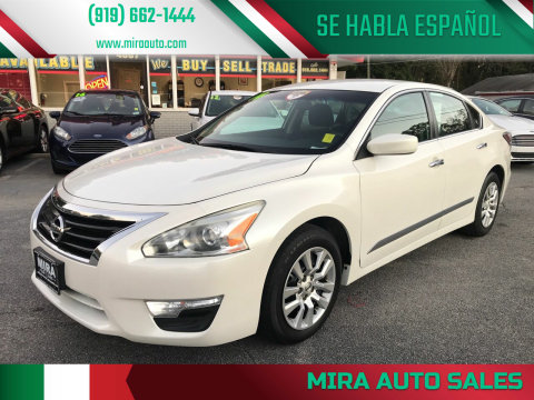 2014 Nissan Altima for sale at Mira Auto Sales in Raleigh NC