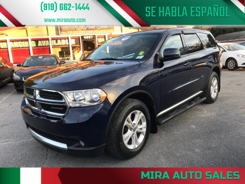 2013 Dodge Durango for sale at Mira Auto Sales in Raleigh NC